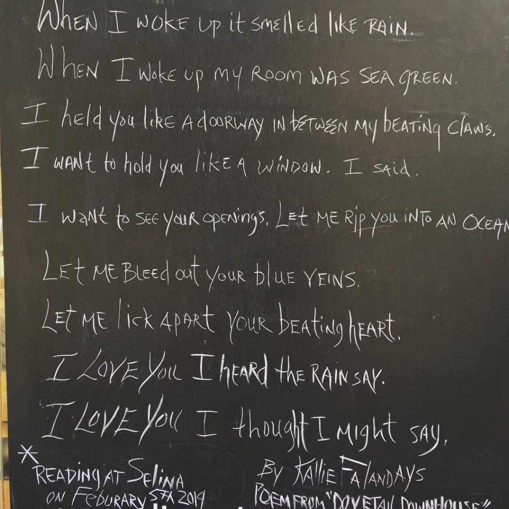 Kallie Chalkboard Poem